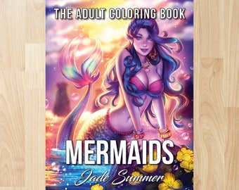 Mermaids by Jade Summer (Coloring Books, Coloring Pages, Adult Coloring Books, Adult Coloring Pages, Coloring Books for Adults)