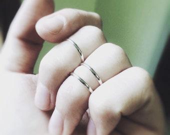 3 Knuckle Rings, Sterling Silver Knuckle Rings, Above Knuckle Rings, Midi Stack Rings, Band Knuckle Rings, Simple Rings, Everyday Rings