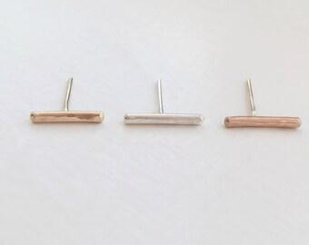 Silver Bar Stud Earrings, Bar Earrings Silver, Silver Bar Earrings, Silver Stud Earrings, Bar Earrings, Bar Stud Earrings, Stud Earrings