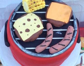 BBQ Cake Topper Set