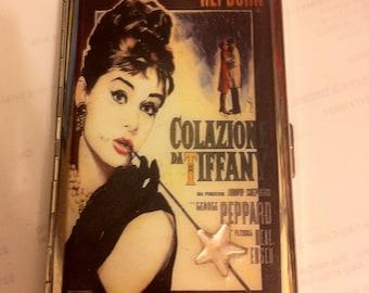 Audrey Hepburn Colazioni da Tiffany's Mirror Tissue 100s Cigarette Case Business Card Holder