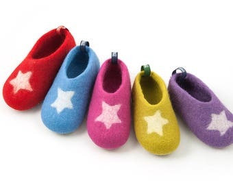 Kids Wool Slippers, Toddler House Shoes, Boys U0026 Girls House Slippers W. Star