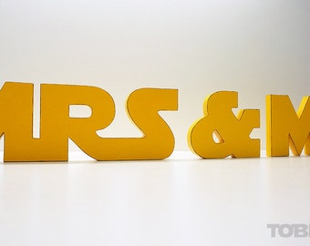 Star Wars Wedding, Mr and Mrs, Wedding Sign Mr & Mrs, wooden letters, table decor, Wedding gift