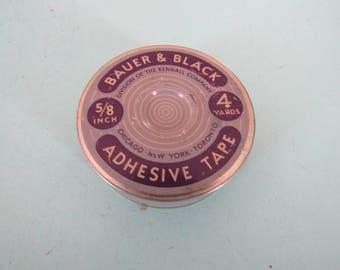 Vintage Bauer & Black Adhesive Tape Tin Free Shipping