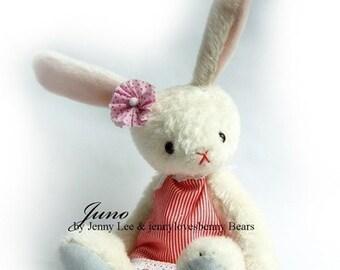 JUNO - OOAK artist bear bunny epattern by Jenny Lee of jennylovesbenny bears PDF