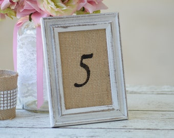framed table numbers, rustic table numbers, vintage wedding decor, burlap wedding, event decor, shabby chic bridal shower, garden party