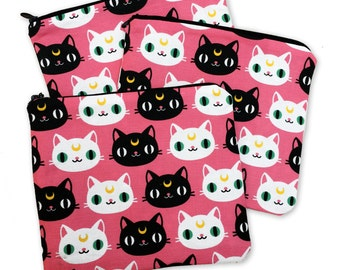 Luna Artemis Sailor Moon Zipper Pouch - Coin Purse