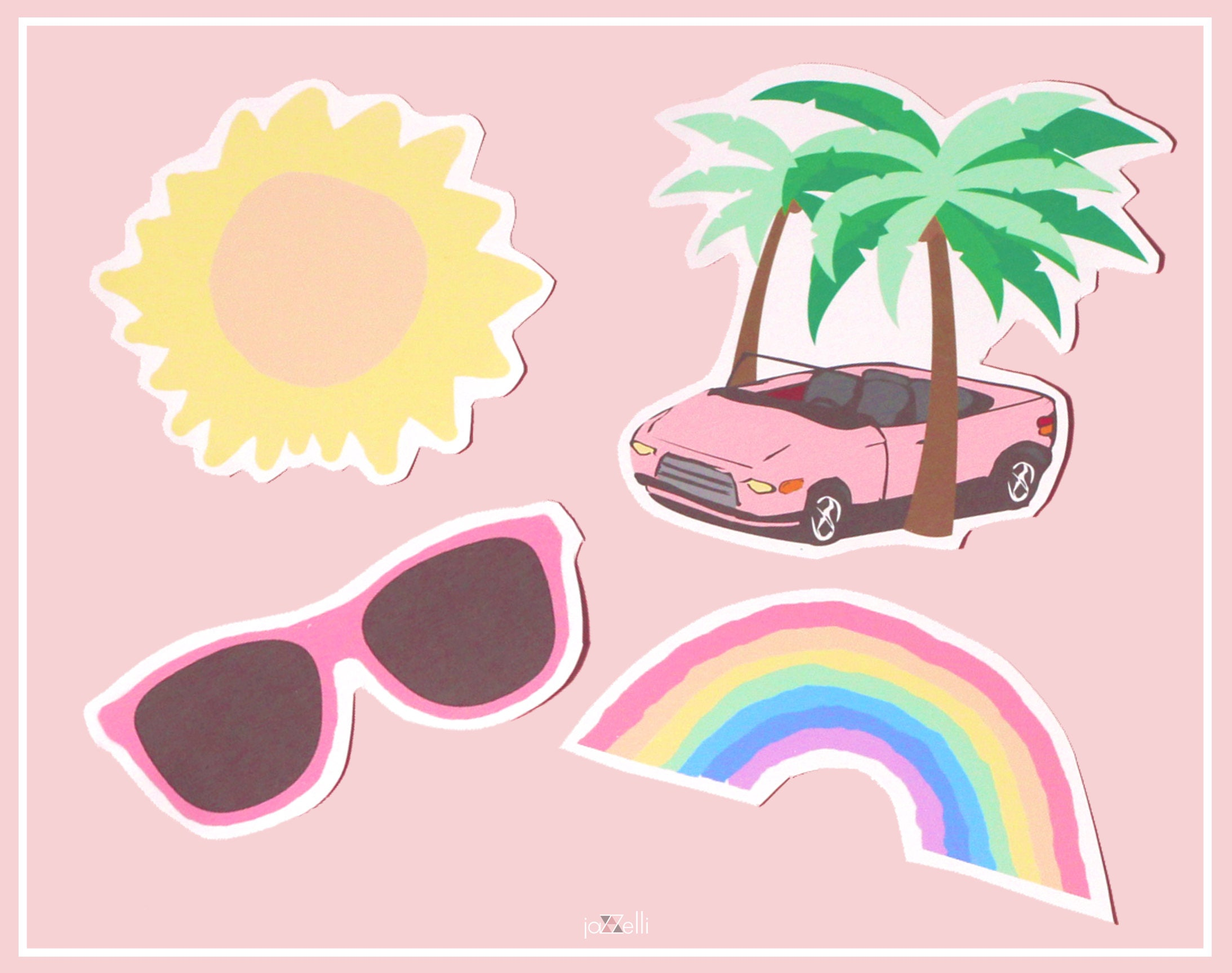 Summer Vibes Stickers Cute Stickers Tumblr Stickers for Cute Stickers Tumblr Hd  35fsj