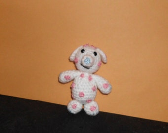"Handmade Crocheted Amigurumi Misfit Elephant from Rudolph the Red Nosed Reindeer Misfit Toys 5"" Tall by The Knitting Gnome.. Cute"