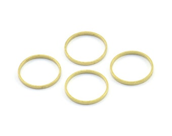 12mm Brass Rings, 50 Raw Brass Rings, Connectors (12mm) A0625