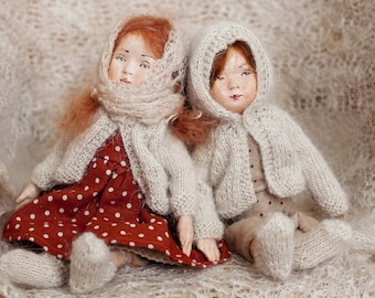 Doll tutorial pdf e-book vintage style cloth and clay doll with doll body and cloth pdf pattern
