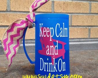 Personalized Frosted Mug, Beer, plastic mug, Graduation Gift, Bridesmaids Gift, birthday gift, bachelorette