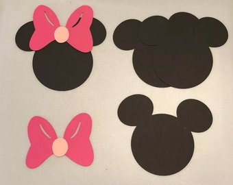 Mickey or Minnie Die Cuts
