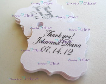 "35 Personalized Square Brackets Size 1.50""x1.50"" -Custom Square Bracket Labels -Paper Bracket tags -Paper die cuts -Cardstock Labels"