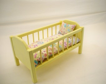 Doll Crib, Wood Doll Bed, 18 inch Doll Crib, Doll Furniture, Doll Bed, American Doll Crib, Girls Toy, Doll Wood Furniture