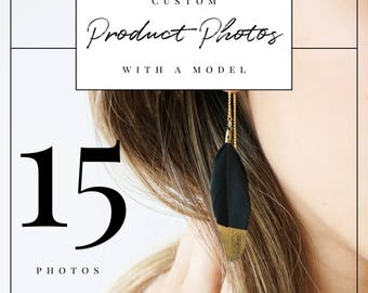Professional Custom Styled Product Photos with a Model for 5 Products (3 each for a total of 15 photos) | Professional Product Photography