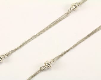 Vintage Dyadema Italy Four Chain Necklace 925 Sterling Silver NC 921