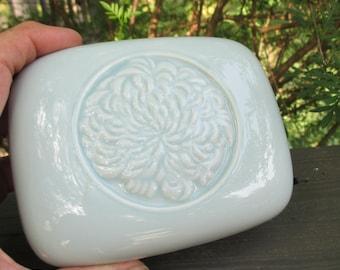 Vintage Light Blue Porcelain Powder Box - Tiffany & Co for Germaine Monteil