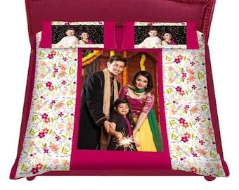 personalized photo bedsheet