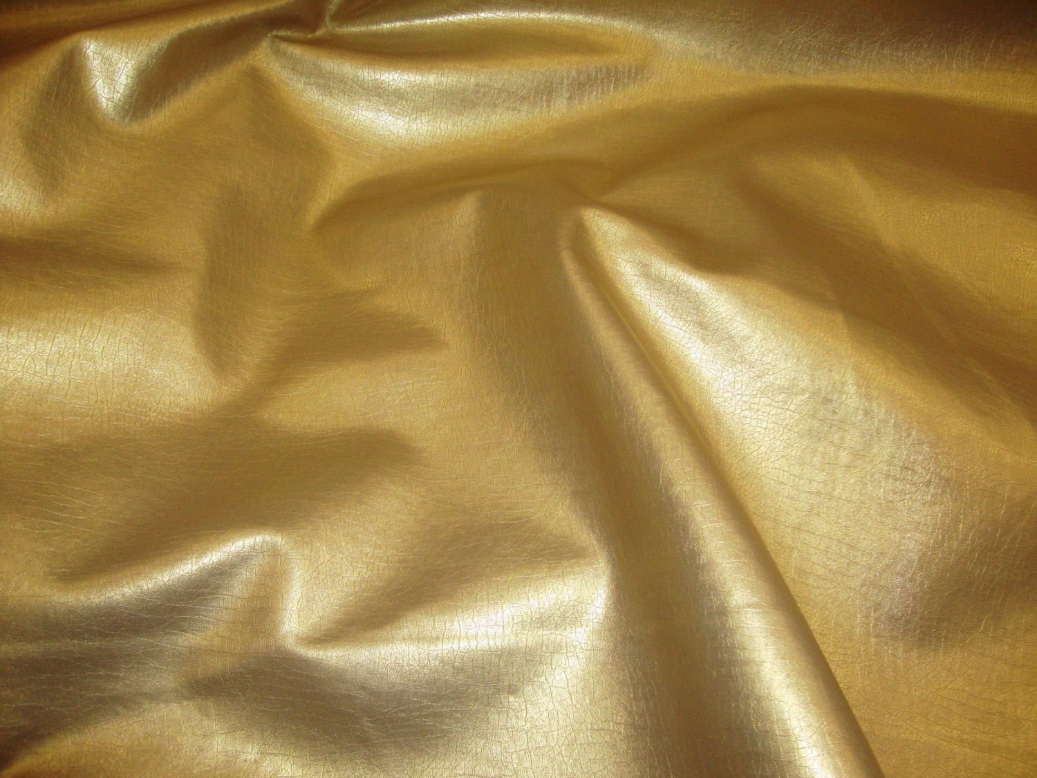 Vinyl Faux Leather Gold metallic Distressed upholstery fabric