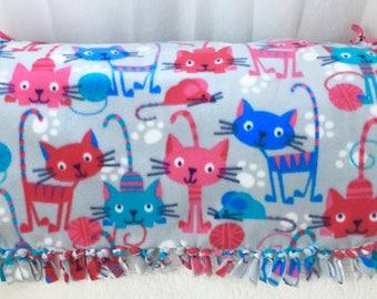 The Cutest Cat Blanket! Hand Made Fleece