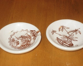 Antique doll dishes (3 items)
