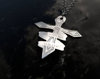 I am with you always - cross pendant sterling silver necklace - religious jewelry