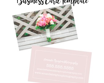 Blush Pink Business Card Template