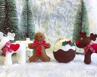 Mix of Three Handmade Christmas Decorations