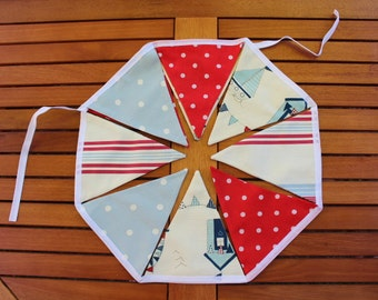 By The Seaside Bunting - handmade fabric bunting, garland decoration, fabric banners, seaside bunting