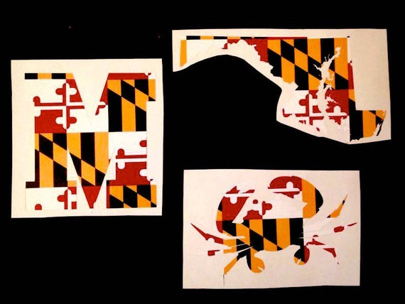 Maryland maryland car decal maryland flag decal maryland
