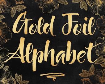 Gold alphabet clip art, Gold foil alphabet, Gold letters, Gold numbers, Gold symbols, Gold font, Gold wedding clipart, 82 design elements