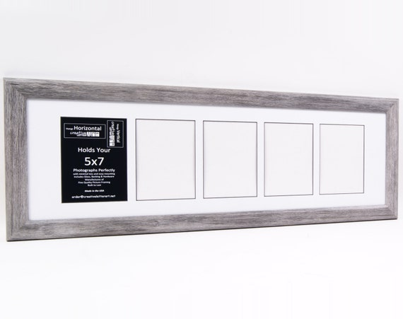 5x7 Multiple 3 4 5 6 7 8 9 10 Opening Driftwood Picture Frame with ...