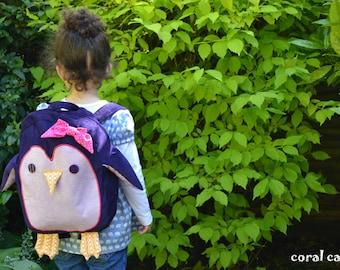 Purple Penguin Children's Backpack Rucksack