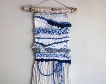 Waves - Woven Wall Hanging - Tapestry - Weaving