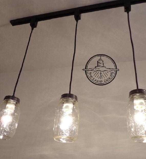 Buy Pendant Track Lighting: Mason Jar TRACK LIGHTING Pendant SINGLE New Quart Flush
