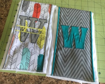 Set of 2 Custom Burp Cloths for LOCAL PICKUP ONLY