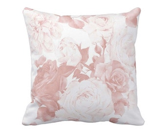 Pillow Cover Blush Cottage Rose Floral