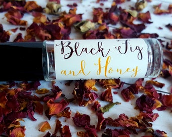 Perfume Oil, Roll On Perfume Oil | Black Fig & Honey | Long Lasting Perfume Oil, Natural Perfume Oil, Fig Perfume Oil, Honey Perfume Oil