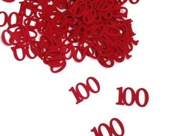 100th birthday confetti , confetti , table confetti