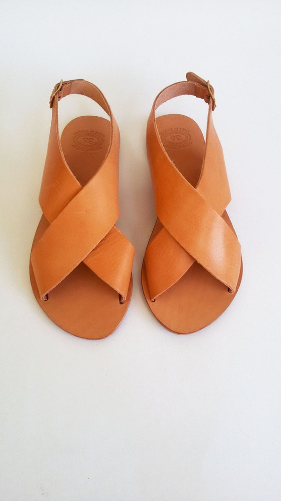 Sandals ''Naxos'' Ancient Sandals Slingback Greek Greek Leather Sandals F6qFOU