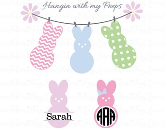 Hangin with my Peeps SVG Design for Silhouette and other craft cutters (.svg/.dxf/.eps/.pdf)