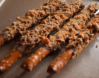 Deluxe Butterfinger Chocolate Covered Pretzels 6ct