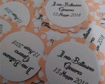 25 TAG Pink Polka Dots-labels for wedding, gift, events, packages, baptism