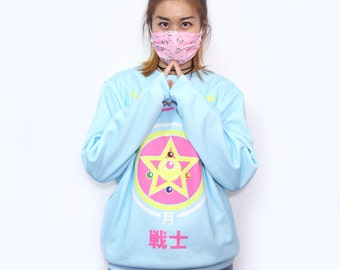Sailor Moon Crystal Power Blue Fashion T-shirt/Sweater inspired by Japanese Anime Sailor Moon!