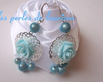 Anthology of blue flowers earrings