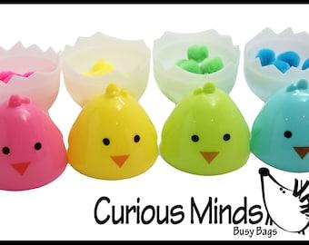 Easter Busy Bag - Color Sorting Chick Eggs - Toddler and Preschool Easter Basket Filler