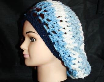 beret, crochet, very warm mesh 20