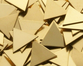 NuGold Triangles - 18 ga, stamping blanks, metal blanks, 18 gauge, stamping supplies geometric stamping blanks, Bopper, hand stamping blanks