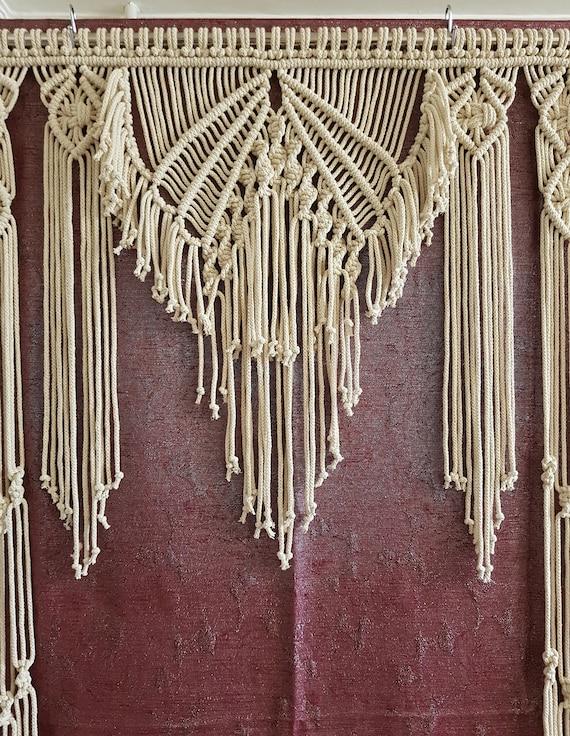 Macrame Curtain Macrame Wall Hanging Room Divider Wedding